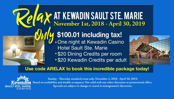 Relax Package Sault Ste. Marie Hotel