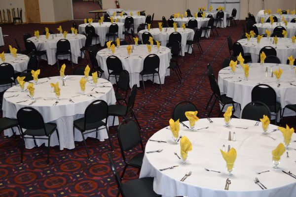 the event center tables set