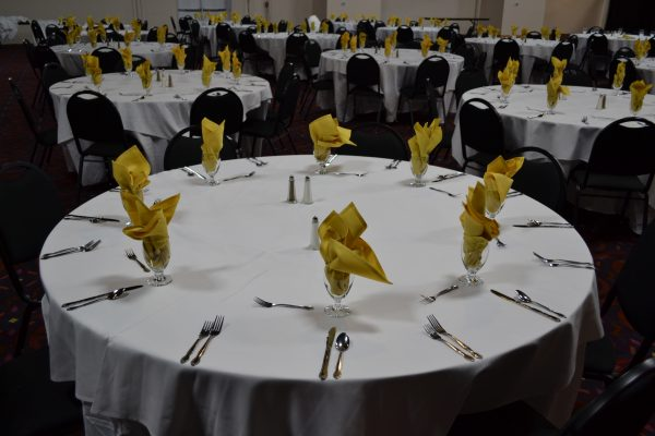 the event center table set up