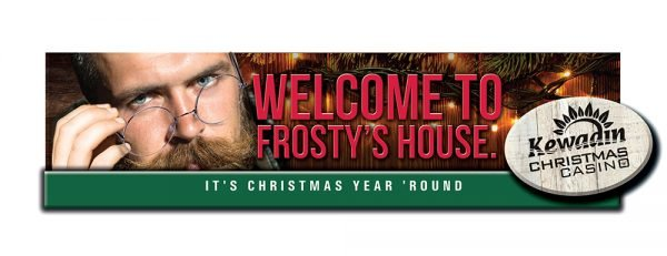 Welcome to Frosty's House. Kewadin Christmas